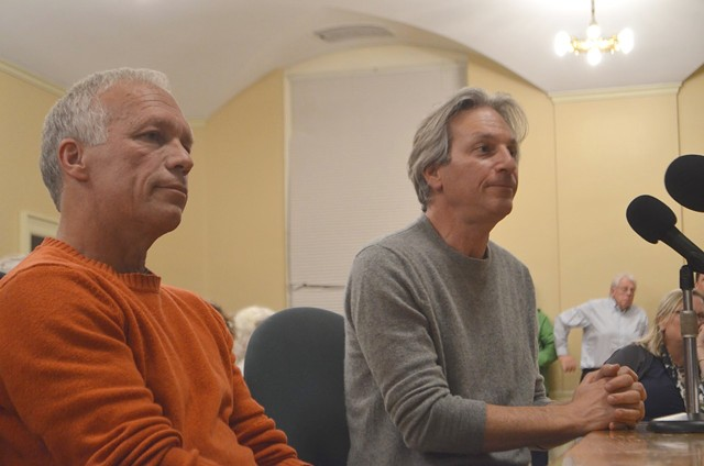 KBTL board chair Alan Matson, left, and Tucows CEO Elliot Noss - FILE: KATIE JICKLING