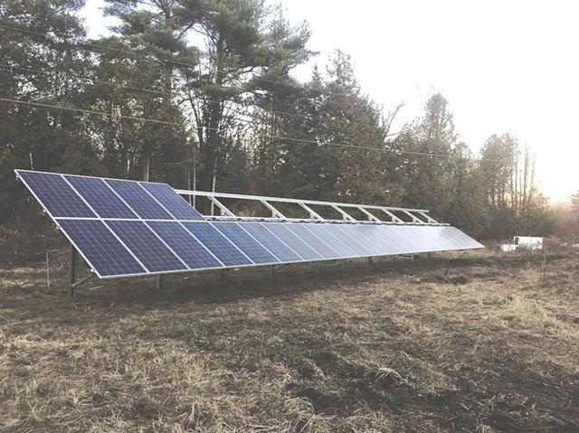Solar panels at Bear Roots Farm - COURTESY OF BEAR ROOTS FARM