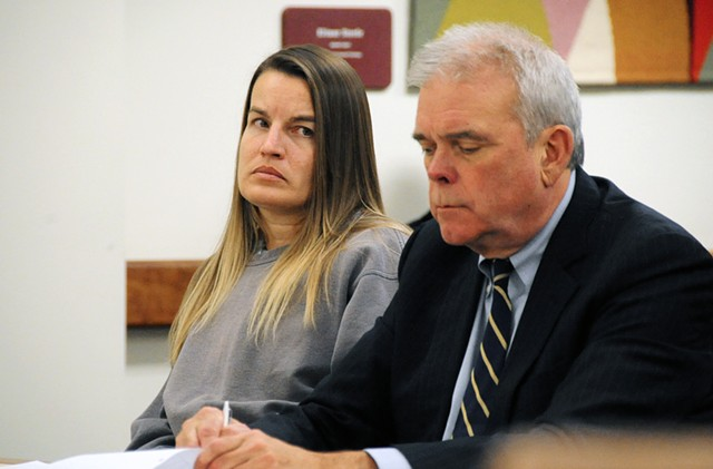 Jody Herring with her attorney, David Sleigh - POOL PHOTO: STEFAN HARD, TIMES ARGUS