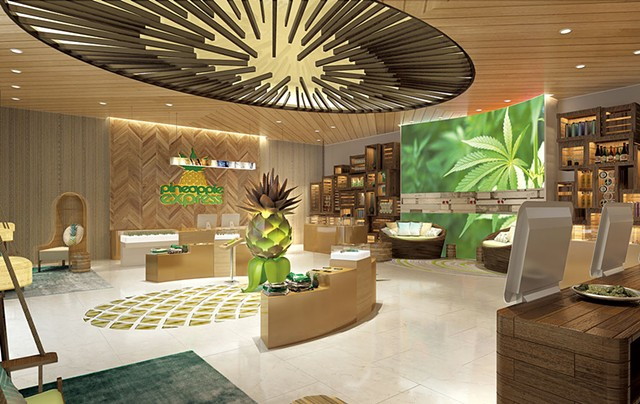 Pineapple Express dispensary - PHOTOS COURTESY OF THE MCBRIDE COMPANY