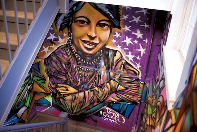 Mural of Pamela Colman Smith - CALEB KENNA