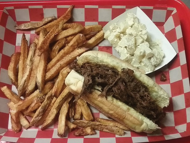 Brisket sandwich and sides at Billtown Barbecue - COURTESY OF BILLTOWN BARBECUE