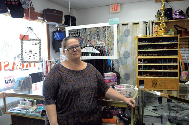 Tina Brady at her consignment store - KATIE JICKLING