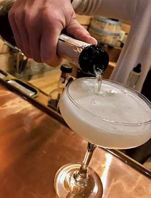 A bubbly cocktail from SILO Distillery - SUZANNE M. PODHAIZER