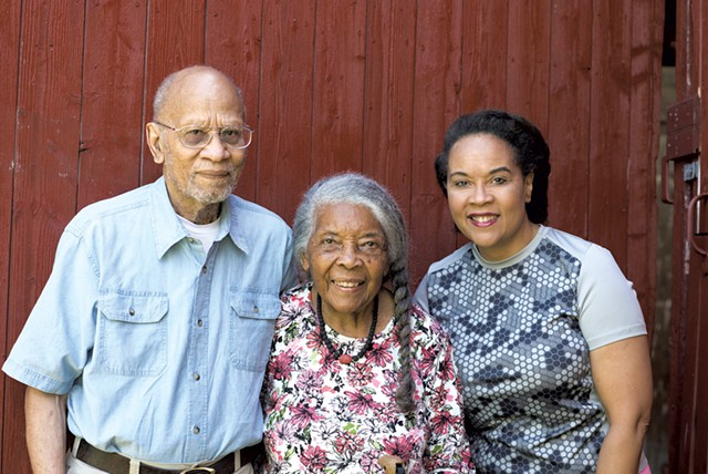 L to R: Jack and Lydia Clemmons with their daughter Lydia - CALEB KENNA