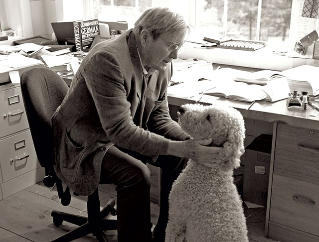 Galway Kinnell and his dog - COURTESY OF RICHARD BROWN