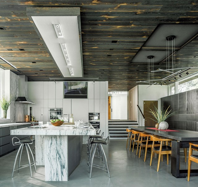Timeline House kitchen by Elizabeth Herrmann Architecture + Design - COURTESY OF JIM WESTPHALEN