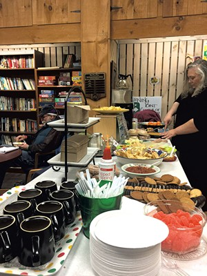 Guest Israel Cave and volunteer Chandra Duba on Thanksgiving - CATHY RESMER
