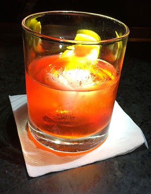 Negroni made with Tom Cat Gin at Pizzeria Verità - SALLY POLLAK