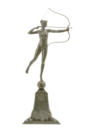 """Diana of the Tower"" (c. 1899) by Augustus Saint-Gaudens"