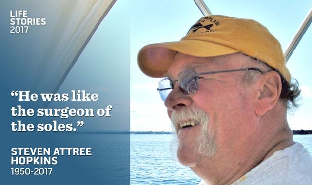 Steven Hopkins on his boat
