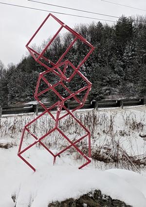 Sculpture by Tim Clark and Baptiste Lefrançois of SLAG Sculptures - COURTESY OF TIM CLARK