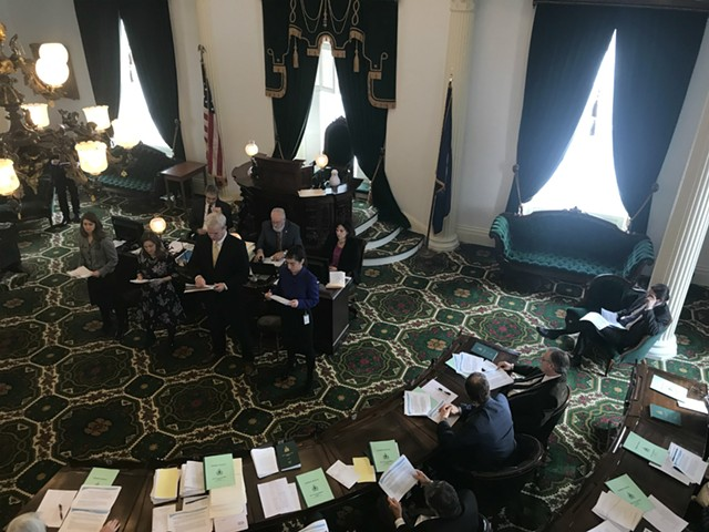 Vermont's Senate gets sexual harassment prevention training. - TAYLOR DOBBS