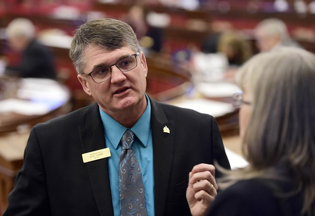 Rep. Don Turner on Thursday on the House floor - JEB WALLACE-BRODEUR