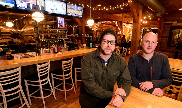 Owners Mark Frier (left) and Chad Fry at Tres Amigos in Stowe - JEB WALLACE-BRODEUR