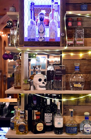 The tequila bar at Tres Amigos - JEB WALLACE-BRODEUR