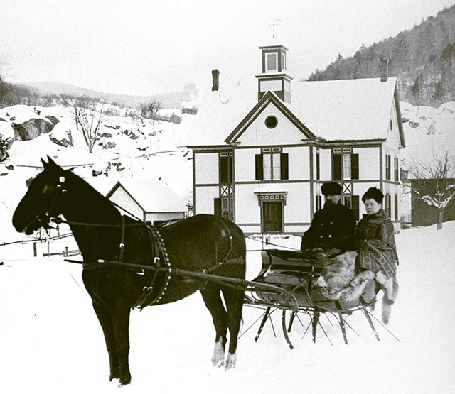 A photograph from the Waitsfield Historical Society's digitized collection of 800-plus glass slides - COURTESY OF THE WAITSFIELD HISTORICAL SOCIETY
