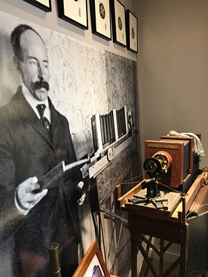 """""""Snowflake"""" Bentley and one of his original cameras - SUZANNE M. PODHAIZER"""
