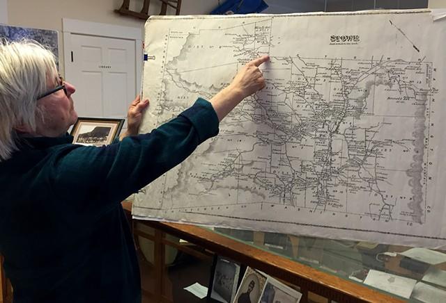 Stowe Historical Society president Barbara Baraw - SALLY POLLAK