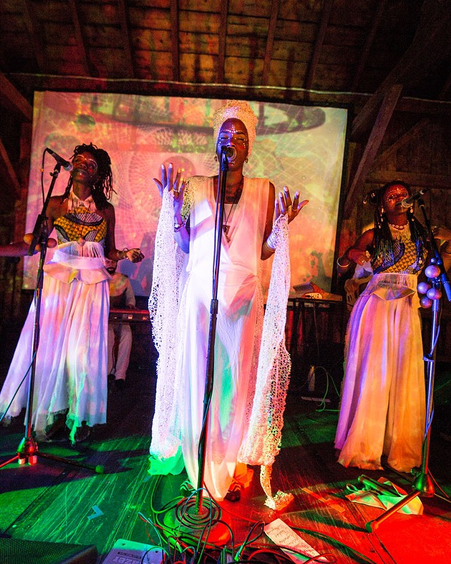 Ngonda Badila (center) of  Lady Moon & the Eclipse - COURTESY OF LUKE AWTRY PHOTOGRAPHY