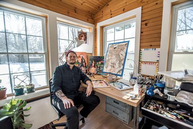 Jeffrey Robbins in his studio - ROBIN KATRICK