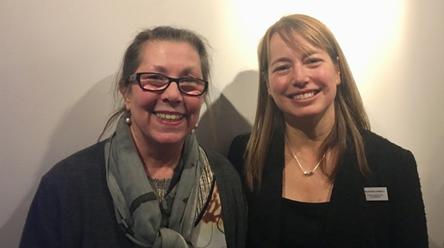 Elizabeth Bunsen (left) and Heather Ferrell - SADIE WILLIAMS