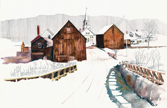 """Waits River Village"" by Tom Leytham - COURTESY OF TOM LEYTHAM"