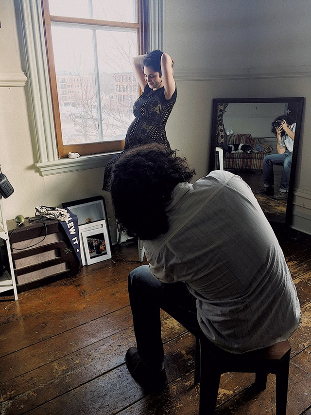 Daniel Schechner photographing a client in the Wishbone Collective studio space - COURTESY OF WISHBONE COLLECTIVE