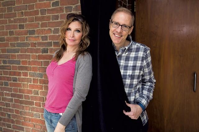 Original cast member Bianca Leigh (left) and playwright Paul Lucas - COURTESY OF JON CHASE/HARVARD