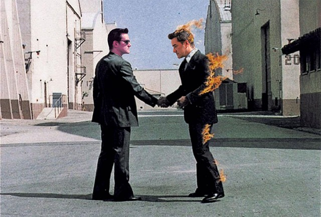 Pink Floyd's wish You Were Here album Cover Re-created With Craig Bailey