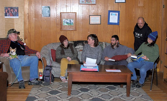 Cindy Boyd (center) with a group at the Kingdom Recovery Center - ROBERT C. JENKS