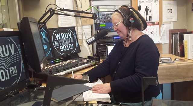 "Deb Reger, host of ""Moccasin Tracks,"" at WRUV - KYMELYA SARI"