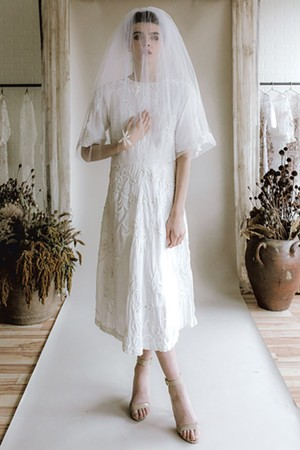 Wedding dress from Rackk & Ruin - COURTESY OF JACQUELYN POTTER