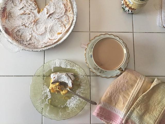 Delicata squash flaugnarde, with tea - HANNAH PALMER EGAN