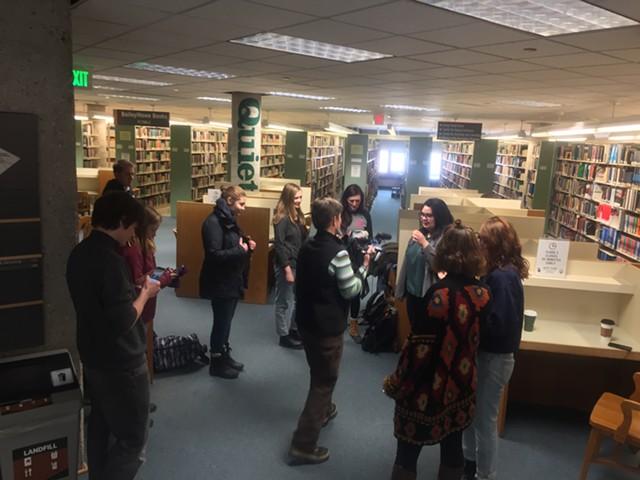 The Doritos circle at UVM's Bailey/Howe Library. - RACHEL JONES