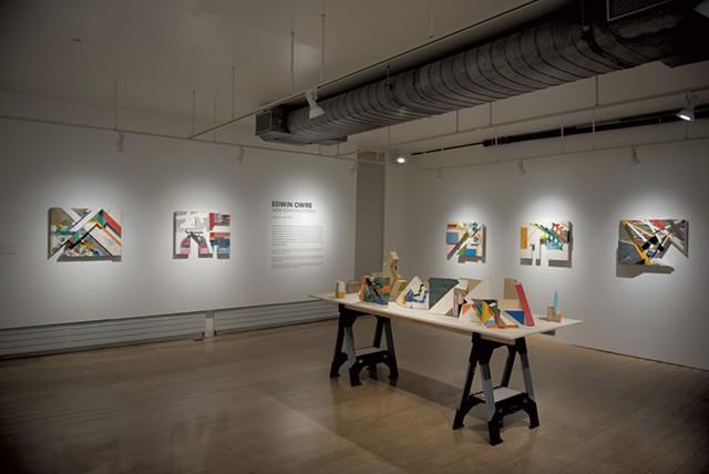 """Edwin Owre's """"New Constructions"""" exhibit at BCA Center - PHOTOS COURTESY OF SAM SIMON"""