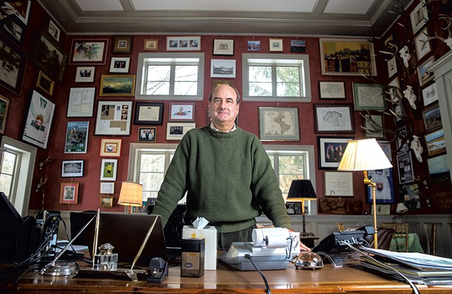 Skip Vallee in his home library - JAMES BUCK
