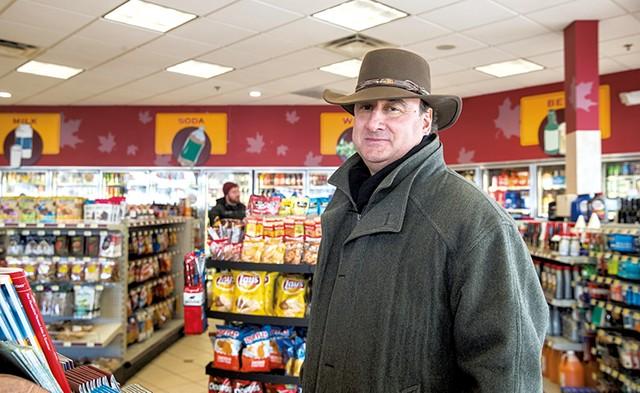 Skip Vallee inside the Colchester Maplefields store - JAMES BUCK