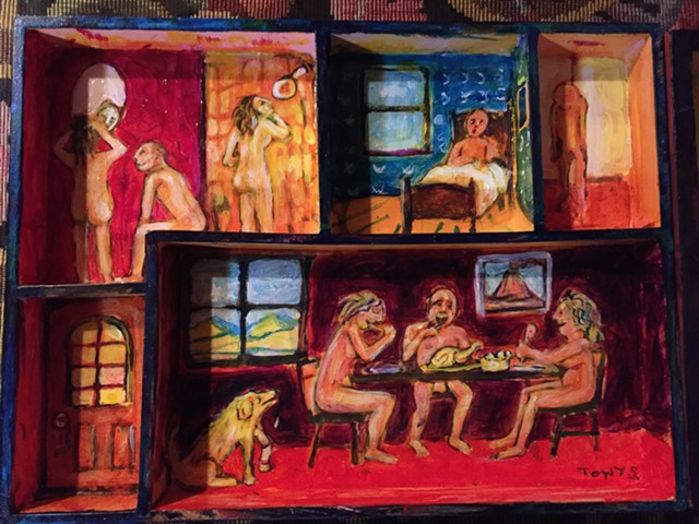 Tony Shull painting - SALLY POLLAK