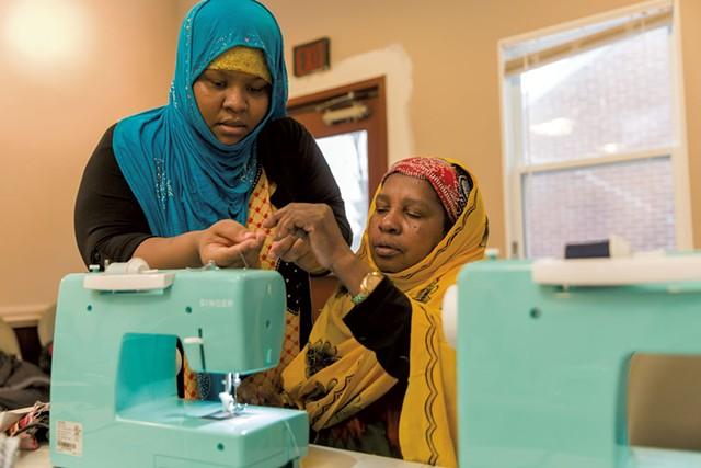 Khadija Abdi (left) and Isha Abdi - PHOTOS: OLIVER PARINI