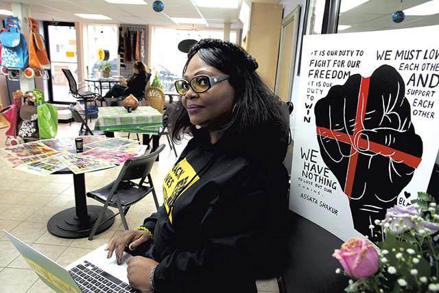 Ebony Nyoni at Shop 4 Change in Winooski - MATTHEW THORSEN