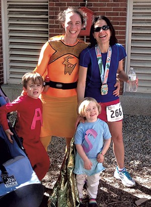 Becca Balint (right) with wife Elizabeth Wohl and children Abraham and Sadie - COURTESY OF BECCA BALINT