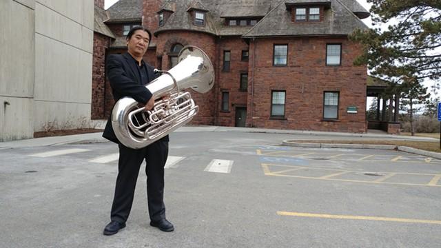 Yutaka Kono and his tuba - JORDAN ADAMS
