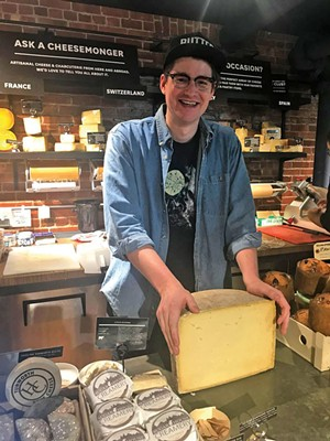 Cheesemonger Rory Stamp of Dedalus Wine Shop, Market & Wine Bar - FILE: SUZANNE M. PODHAIZER