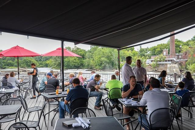 The riverside patio at Waterworks Food + Drink - FILE: JESSE DAWSON