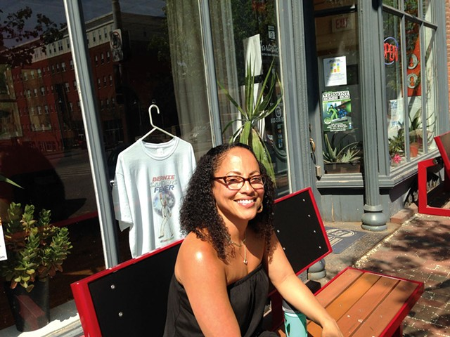 Aartistic Inc co-owner Gina Duvernay outside her shop - MOLLY WALSH