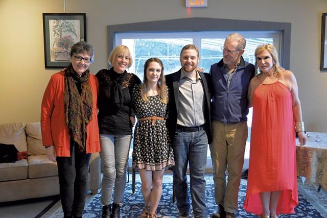 Left to right: Vivian Jordan, Noni Stuart, Carli Harris, Justin Gardner, Bill Pelton and Mary Scripps - COURTESY OF PAULA BRADLEY