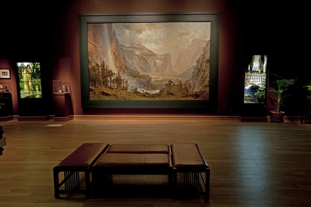 """""""The Domes of the Yosemite"""" at the Charles Hosmer Morse Museum of American Art, after restoration - ST. JOHNSBURY ATHENAEUM"""