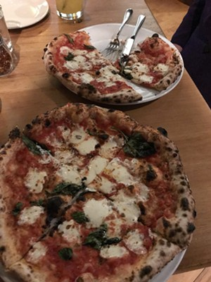 Two-for-one Margherita pizzas - SALLY POLLAK