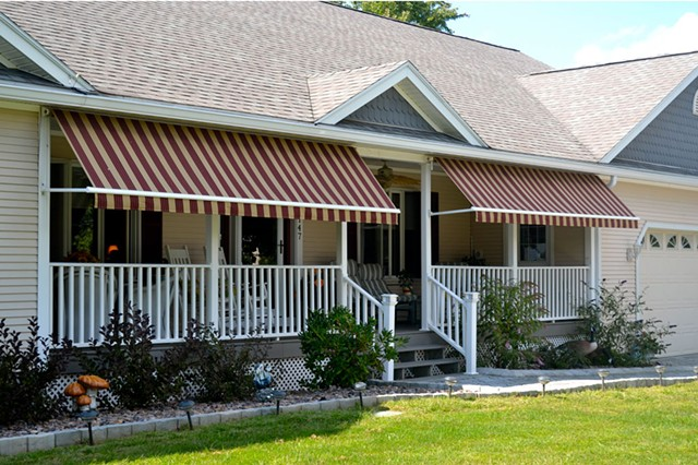 Retractable awning - COURTESY OTTER CREEK AWNINGS